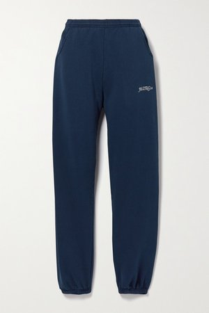 Rizzoli Printed Cotton-jersey Track Pants - Navy