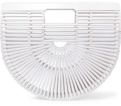 Ark Small Bamboo Clutch - White