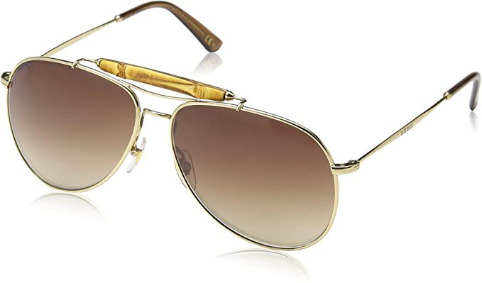 Amazon.com: Gucci Men's GG 2235/S Gold/Brown Gradient: Clothing
