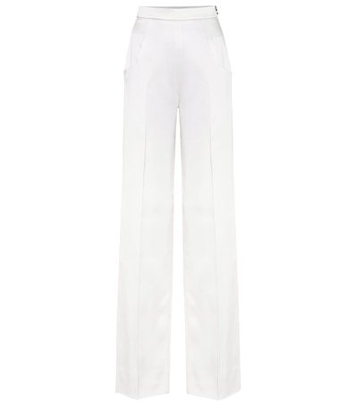 Ward high rise wide leg white pants