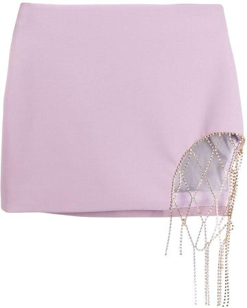 diamanté chain mini-skirt