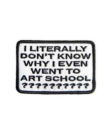 art school patch