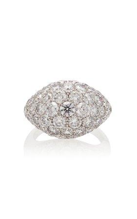 Busatti America 18K White Gold And Diamond Ring