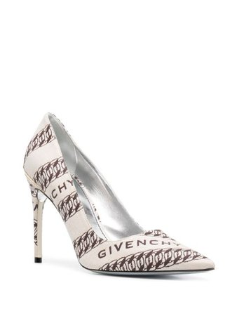 Givenchy Chain Print Pointed Toe Pumps - Farfetch