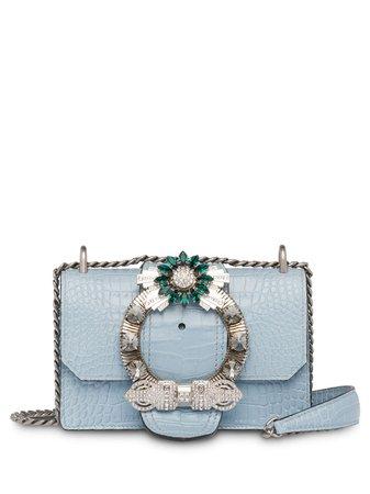 Miu Miu, Lady Crocodile-Effect Shoulder Bag