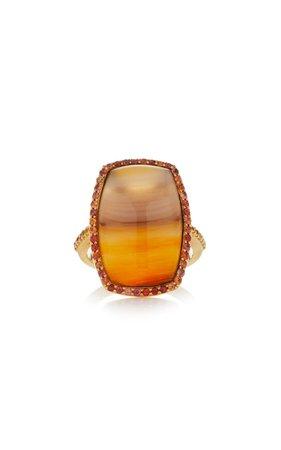 18K Gold Agate Ring by Guita M | Moda Operandi