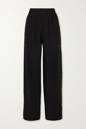 Crepe Track Pants - Black