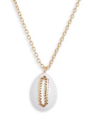 Argento Vivo Enamel Shell Pendant Necklace | Nordstrom
