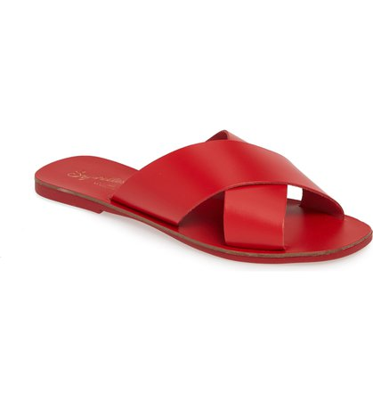 Total Relaxation Slide Sandal SEYCHELLES red