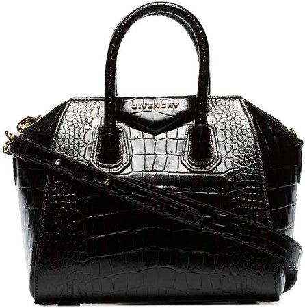 mini Antigona croc-effect tote