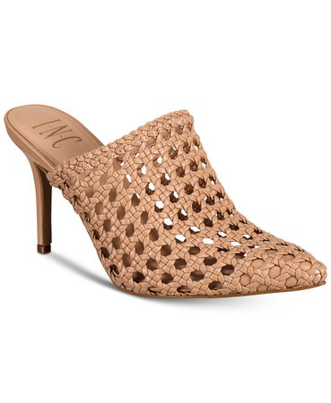 INC International Concepts INC Women's Celestia Woven Mules, Created For Macy's & Reviews - Heels & Pumps - Shoes - Macy's rose