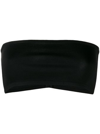 Black Balmain Strapless Cropped Top | Farfetch.com