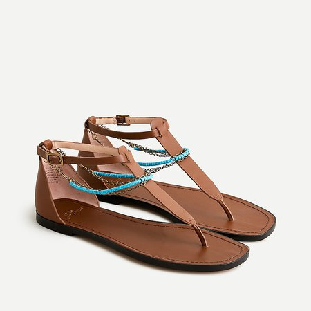 J.Crew: Anklet Thong Sandals In Leather For Women
