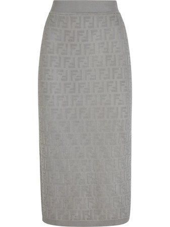 Fendi FF Embroidered Skirt - Farfetch