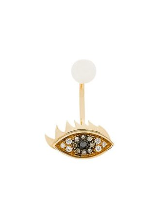 Delfina Delettrez 18Kt Yellow Gold Eyes On Me Piercing Earring ANA5008N Metallic | Farfetch