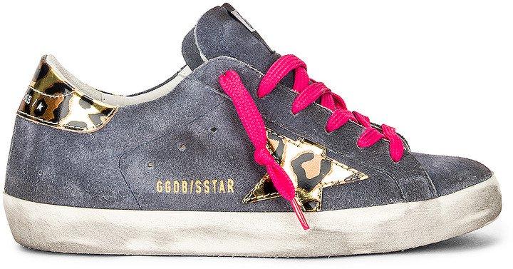 Superstar Sneaker in Grey Blue, Gold, Black & Leopard | FWRD