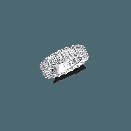 Emerald Cut Eternity Band, Diamond | Graff