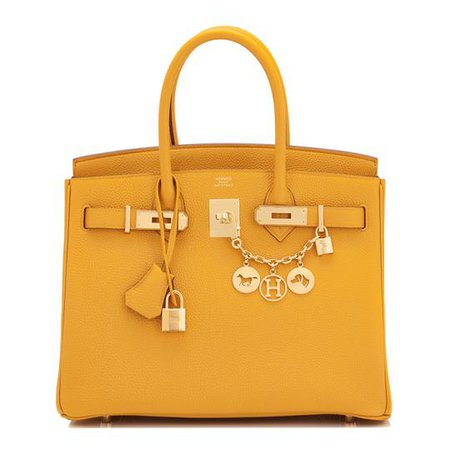 Hermes Feu Orange 30cm Togo Birkin Gold Ghw Satchel Tote Bag Gorgeous - Tradesy