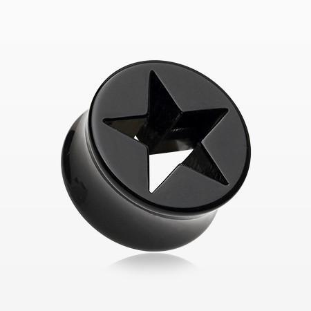 A Pair of Hollow Star Double Flared Ear Gauge Plug – BM25.com