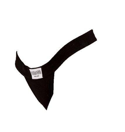 alexander clementine   black thong