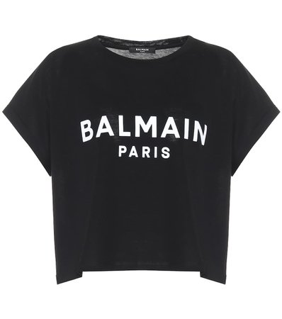 Balmain - Logo cropped cotton T-shirt | Mytheresa