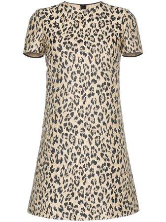 Valentino, leopard print mini dress