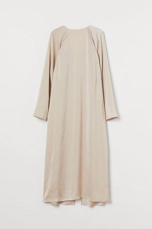A-line Dress - Beige