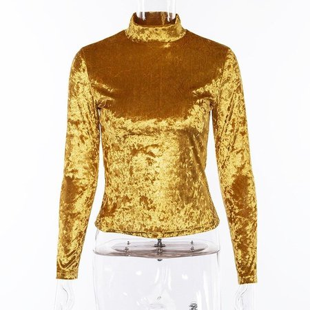 gold turtleneck