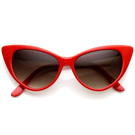 Hot Tip Pointed Vintage 1950's Cat Eye Sunglasses - zeroUV