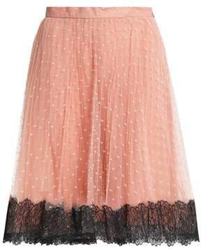 Lace-trimmed Point D'esprit Skirt