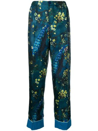 F.R.S For Restless Sleepers Satin Flower Trousers - Farfetch