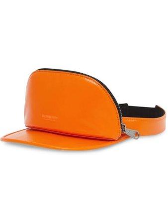 Burberry zipped-pouch visor hat - FARFETCH