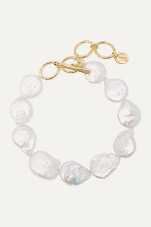 Gold Gold-plated pearl bracelet | Chan Luu | NET-A-PORTER