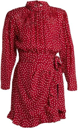 Rebecca Taylor Heart-print silk dress