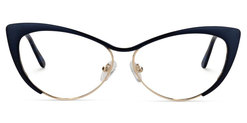 Cateye Dark Blue Glasses | Zeelool Eyeglasses