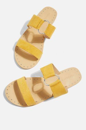 **Wide Fit Hooray Two Strap Sandals - Topshop USA