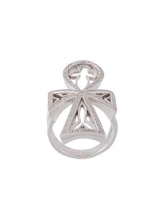 Loree Rodkin diamond ankh ring
