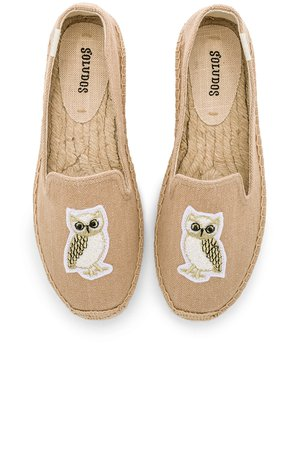 Gilded Owl Smocking Slipper