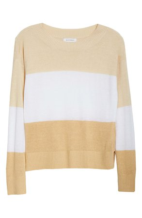 Club Monaco Stripe Boatneck Linen Blend Sweater | Nordstrom