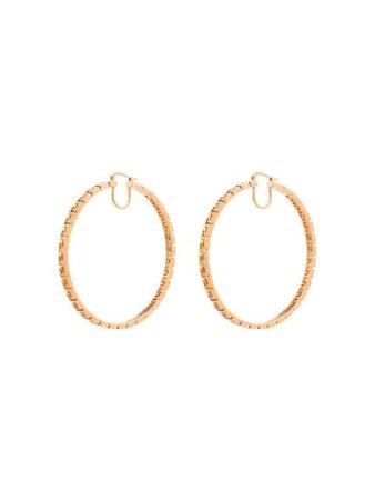Versace Greca-pattern hoop earrings gold DG2H498DJMT - Farfetch