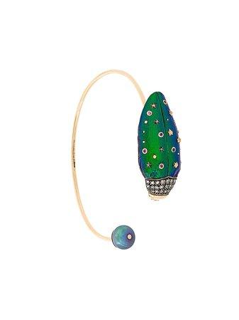 Metallic Bibi Van Der Velden Scarab Bangle Bracelet | Farfetch.com