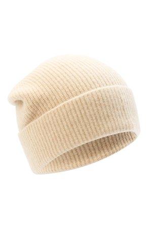 Женская бежевая шапка ALLUDE — купить за 9610 руб. в интернет-магазине ЦУМ, арт. 205/65030