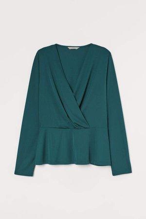 Wrapover Top - Green