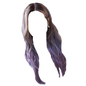Brown/Purple Hair PNG