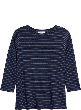 Stripe Linen T-Shirt
