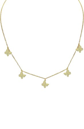 Adinas Jewels Solid Butterflies Necklace | Nordstrom