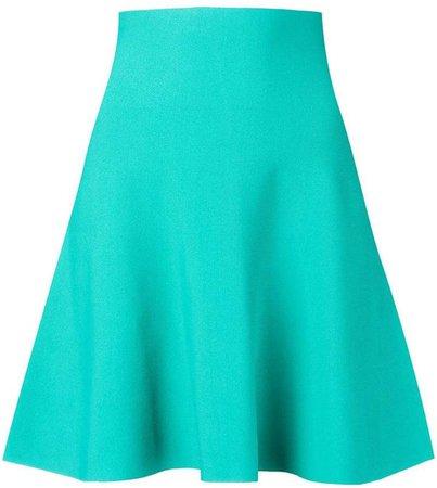 high waisted flared skirt