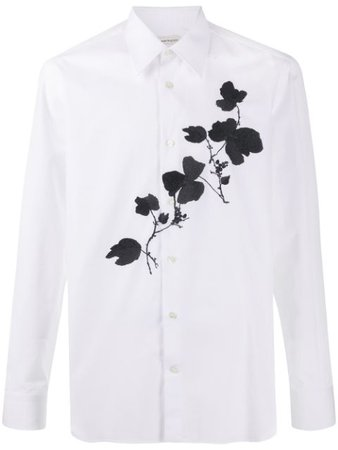 Shop white Alexander McQueen embroidered shirt with Express Delivery - Farfetch
