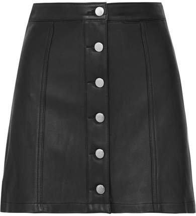 Rosie Leather Mini Skirt - Black