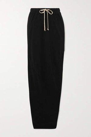 Gonna Cotton Maxi Skirt - Black